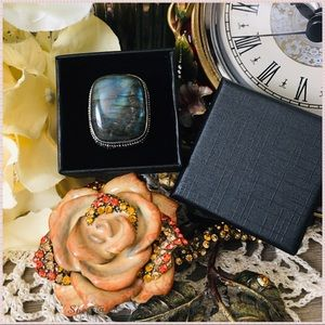 🆕 Labradorite Sterling Silver Handmade Ring